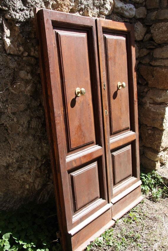 Porte d 39 entr e de noyer italien vintage - Porte d entree qui ferme mal ...