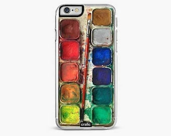 Watercolor Set Rubber iPhone 6s Case, iPhone 6 plus, iPhone 7 case, iPhone 7 Plus case, iPhone 8 case, iPhone 8 plus case, iPhone se case