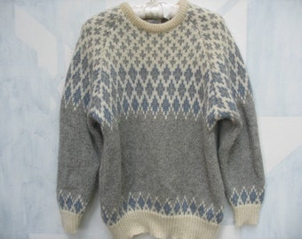 fcf53d7a402 Vintage Blarney Woolen Mill Nordic Style Wool Sweater