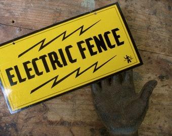 Vintage Electric Fence Sign, Vintage Signage, Man Cave, New Old Stock