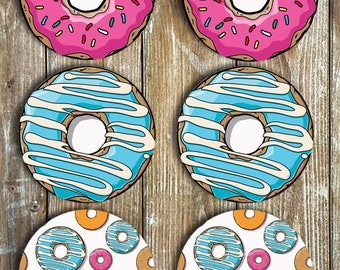 Donut Coasters Set Of 6 NEOPRENE Non Slip - Novelty Coasters - Gift Ideas - Donuts - Doughnuts