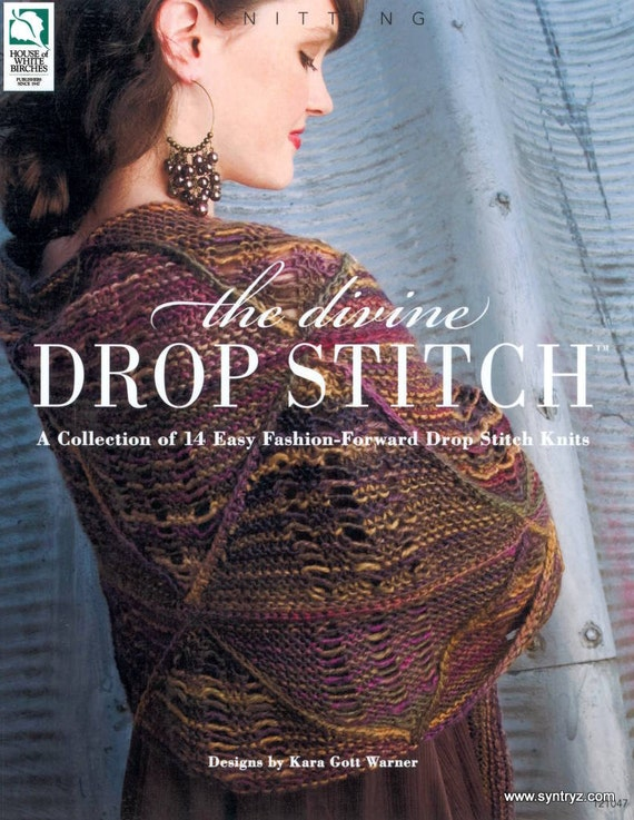 The Divine Drop Stitch Knitting Pattern Book House Of White Etsy