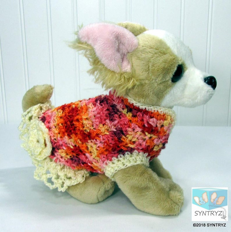 bb8212025c57 Dog sweater Custom XSmall Sizes for Micro-teacup to small dogs