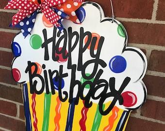 Personalized Cupcake Door Hanger