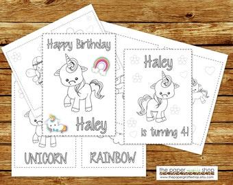 Unicorn Coloring Book Printable