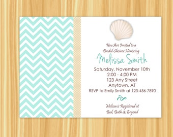 Seashell Invitation | Seashell Bridal Shower Invitation | Shell Invitation | Shell Bridal Shower | Nautical Bridal Shower