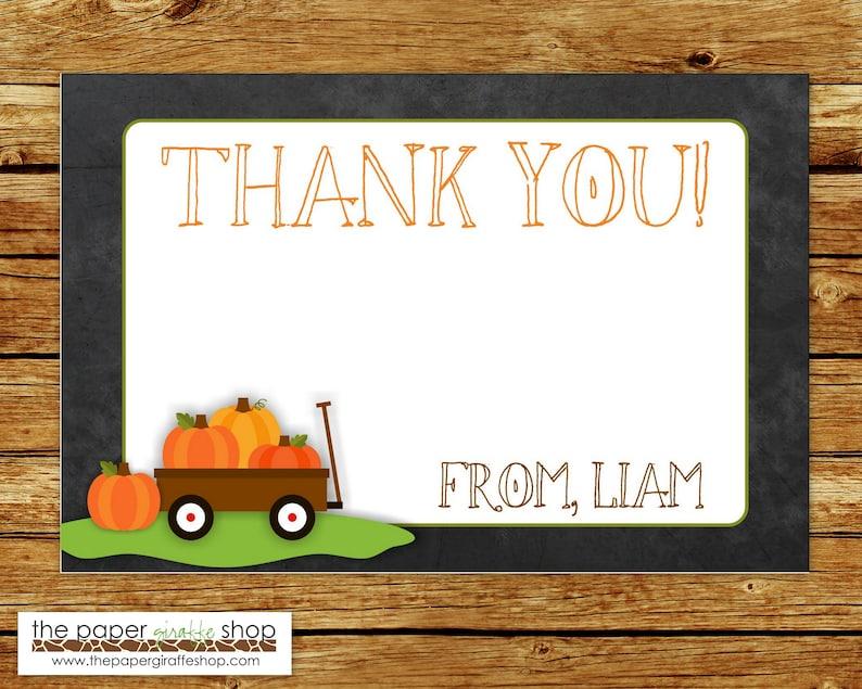 Little Pumpkin Birthday Party Thank You Card Little Pumpkin Chalkboard Thank You Card Little Pumpkin Thank You Card