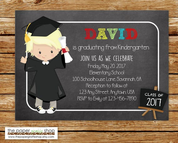 Artículos Similares A Invitación De Graduación De Kinder