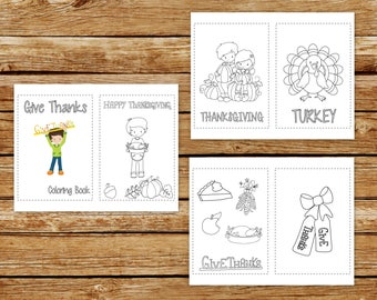 Thanksgiving Coloring Book Printable | Give Thanks Coloring Book | Thanksgiving Coloring Book | Instant Download PDF | Thanksgiving