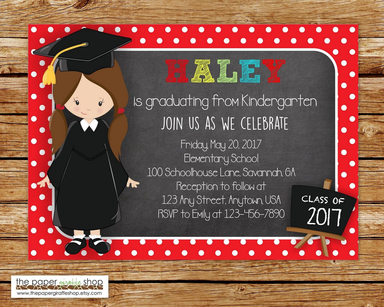 Kindergarten Graduation Einladung Abschlussfeier Einladung | Etsy