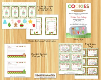 Cookie Exchange Party Decorations Package | Cookie Swap Party | Cookie Exchange Party | Holiday Party | Christmas Party