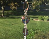 Free Shipping - Spiritual Connection - Healing Purple Crystal Prisms Spiritual Purple Crystal Suncatchers Healing Crystal Suncatchers