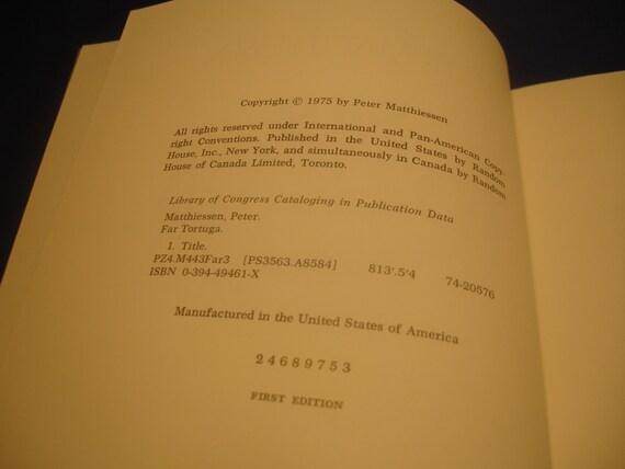 Far Tortuga By Peter Matthiessen 1st Edition Hc Dj 1975 Novel Etsy