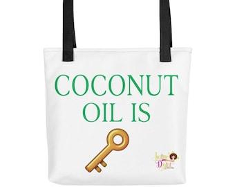 Coconut Oil Is Key Tote Bag