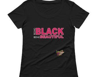 Being Black Being Beautiful Short Sleeve T-Shirt