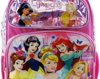 Custom Name Princess Book Bag Personalised Girls School Cinderella Reading Books