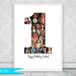 Photo Collage, Photo Collage Number, Photo Collage Gift, Photo Collage Poster, Birthday Gift, Anniversary Gift, Photo Collage Shapes