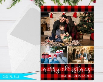 plaid christmas cards holiday cards personalized greeting cards photo christmas cards christmas card template merry christmas card - Merry Christmas Cards Images