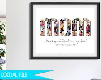 gift for mom christmas gift for her photo gift for mom photo collage gift mothers day gift gift for wife gift for nanny printable - Christmas Present Ideas For Mom