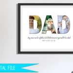 Fathers Day Gift, Gift for Father, Gift for Dad, Photo Collage Gift, Father Son Gift, Father Daughter Gift, Father's Gift, Printable
