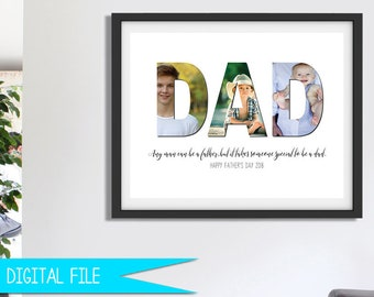 Gift For Dad Father Christmas Him Photo Collage Son Daughter Fathers Printable