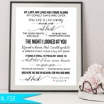 Wedding Song Gift, First Dance Sign, Personalized Anniversary Gift, Personalized Wedding Gift, Wedding Song Gift, Wedding Lyrics Sign