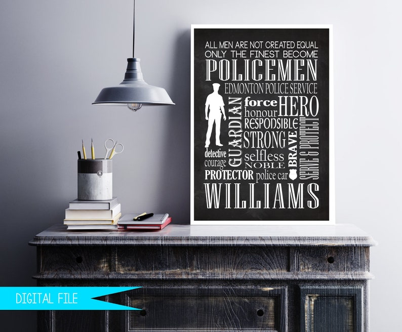 Police Officer Gifts Police Retirement Police Sign Police image 0