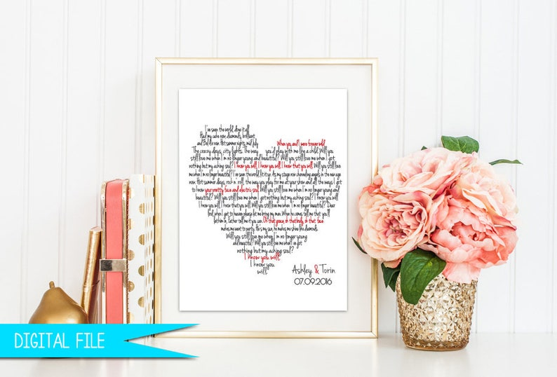 Wedding Song Gift Christmas Gift First Dance Sign image 0