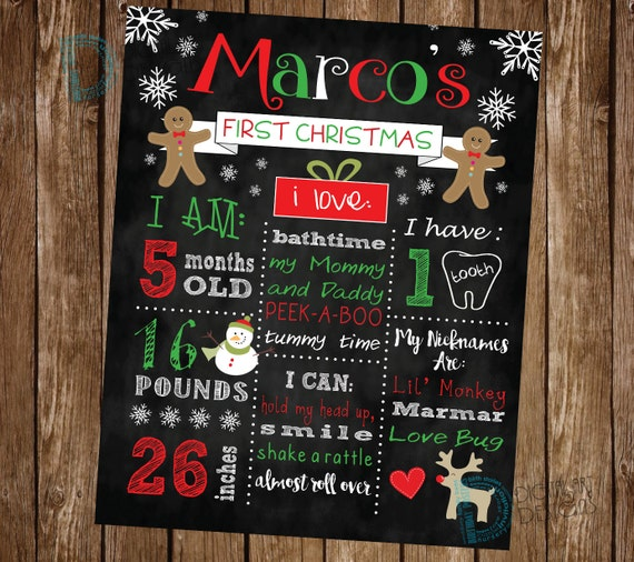 items similar to baby first christmas poster babies first