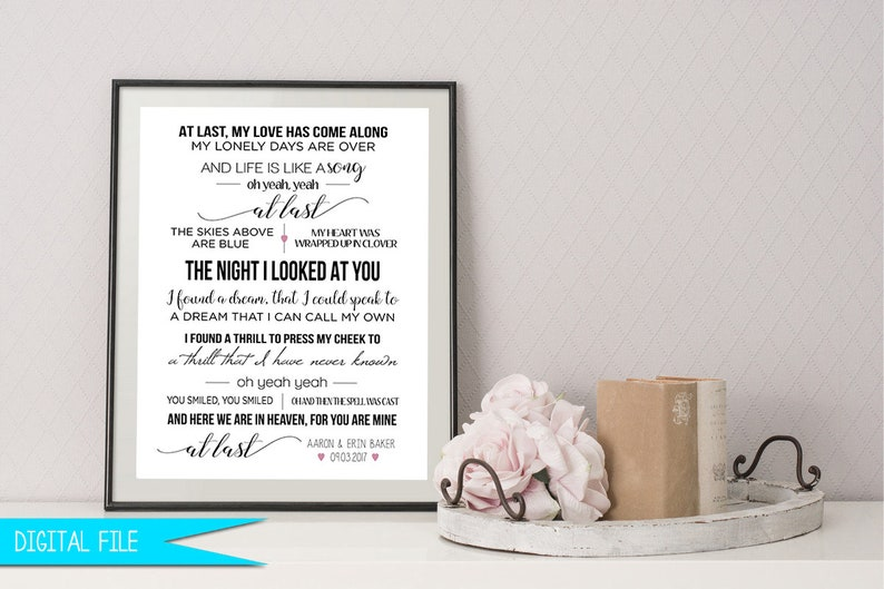 Wedding Song Gift First Dance Sign Personalized Anniversary image 0