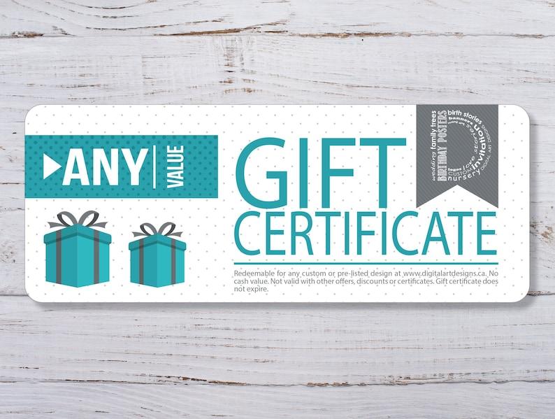 Gift Certificate Digital Art Designs Gift Card Christmas image 0