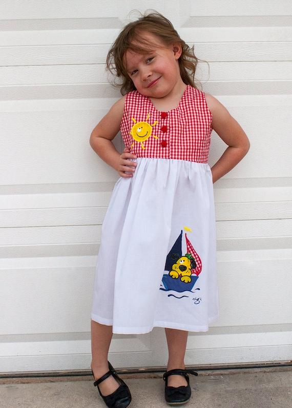 eafa2935708 Girls Dress Girls Summer Dress Red and White Sundress