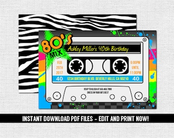 80s dance party | Etsy