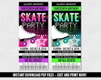 ticket invitation etsy