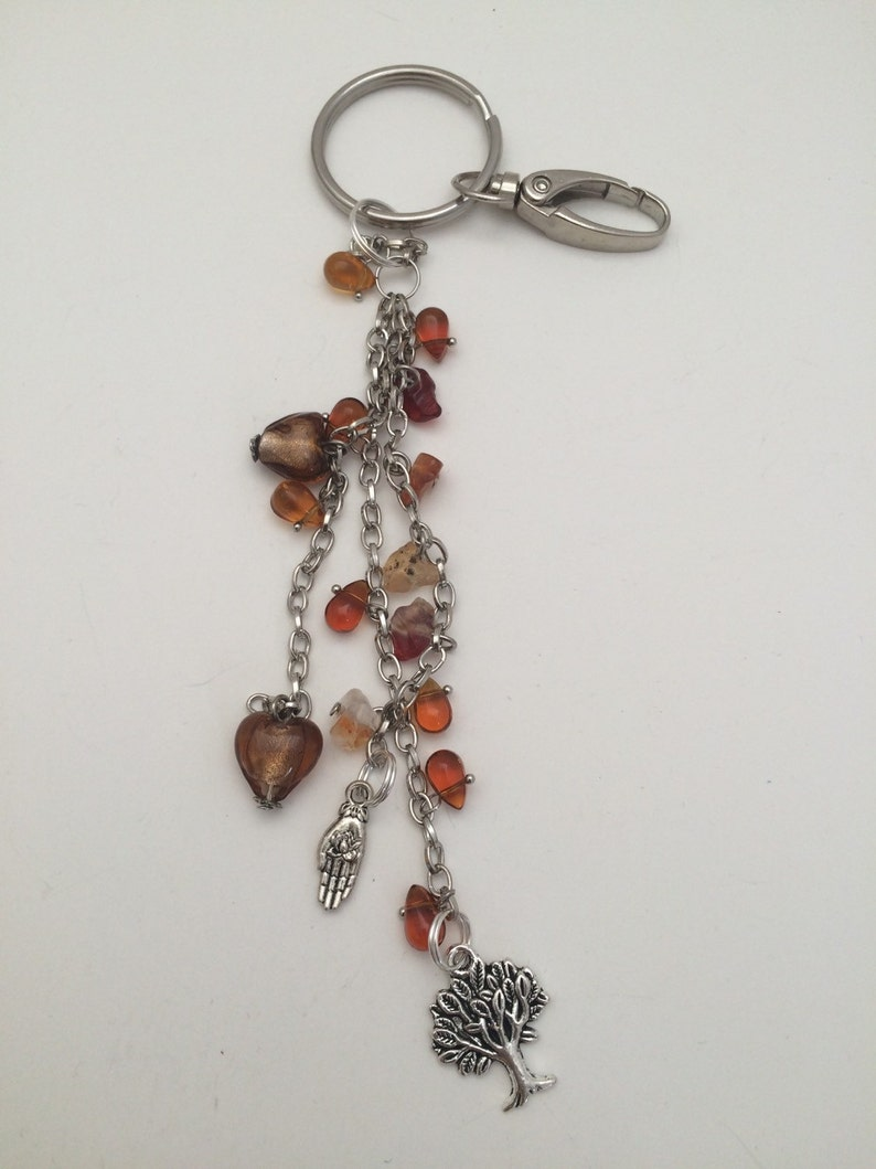 tree lovers Tree of Life Purse Charm; Charm zipper pull Bridesmaid gifts Beaded purse charm Gifts for her Key Chain charm