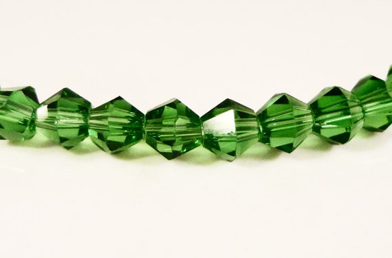 Green Bicone Crystal Beads 4mm Faceted Chinese Crystal Glass Beads 100 Loose Beads per Pack