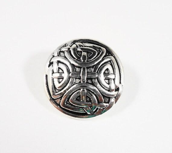 Metal Shank Buttons 16mm Antique Silver Buttons, Chinese Knot Buttons, Wrap Bracelet Buttons, Sewing Supplies, Craft Supplies, 5pcs