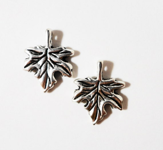 Maple Leaf Charms 16x13mm Antique Silver Metal Small Leaf Pendant Nature Charm Jewelry Making Jewelry Findings Craft Supplies 10pcs