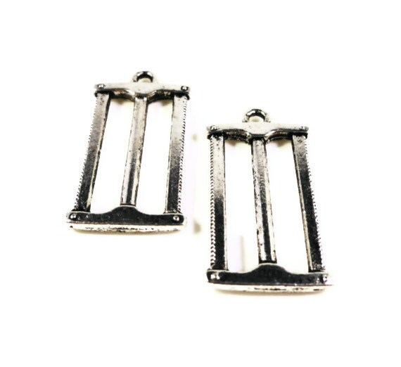 Silver Saw Charms 27x15mm Antique Silver Tone Metal Hand Saw Tool Double Sided Charm Pendant Jewelry Making Jewellery Findings 10pcs
