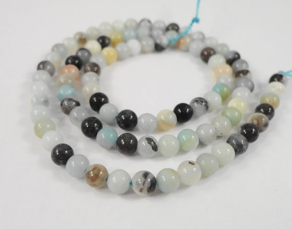 "15"" Strand Amazonite Beads 4mm Round Amazonite Stone Beads, Flower Amazonite Natural Gemstone Beads on a Full 15 Inch Strand with 90 Beads"