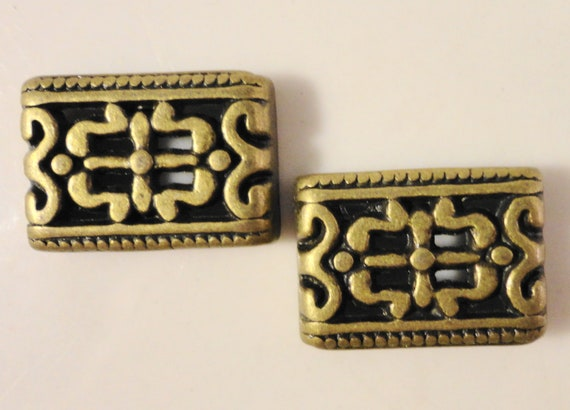 Bronze Bar Spacer Beads 16x11mm Antique Brass Beads, Metal Spacer Beads, Five Hole Beads, 5 Hole Spacer Beads, Jewelry Making Supplies 12pcs