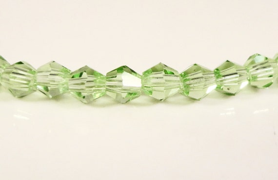 3mm Bicone Crystal Beads, Peridot Green Crystal Beads, Tiny Faceted Chinese Crystal Glass Beads for Jewelry Making 100 Loose Beads per Pack