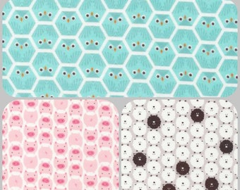 Organic Crib Sheet, Mini Co-Sleeper, Co-Sleeper, Pack n Play, Mini Crib Sheet, Fitted Toddler Sheet, Flannel Crib Sheet, Pigs, Owls, Sheep