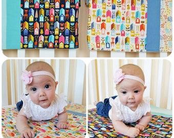 Organic Baby Blanket, Organic Receiving Blanket, Organic Stroller Blanket, Cats, Kitties, Houses, Baby, Boy, Girl, Baby Gift, Paint the Town
