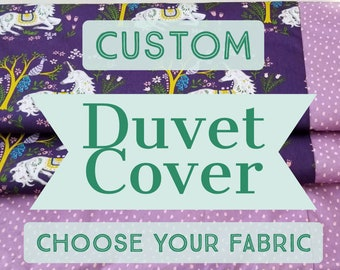 Organic, Duvet Cover, Twin Size, Choose Your Fabric, Custom, Custom Duvet Cover, Twin Size Duvet Cover, Boy, Organic Bedding, Girl
