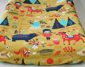 Organic Changing Pad Cover, Girl, Contoured Changing Pad Cover, Boy, Neutral, Organic, Wildland, Horses, Arrows, Floral, Woodland