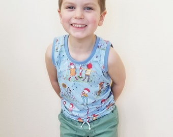 Organic, Childrens Tank Top, Boys Shirt, Girls Shirt, Unisex, Gender Neutral, Kids Clothing, Bees, Nature