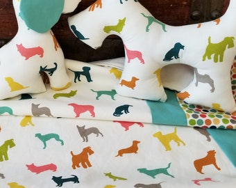Organic Baby Blanket, Dogs, Organic Receiving Blanket, Animal, Gift for Baby, Organic, Farm Fresh, Scottie Dog, Gender Neutral