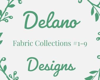 Delano Designs Fabric Options, Custom Order Fabric Options, Fabric Swatches