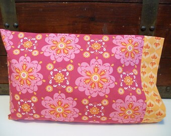 Organic Toddler Pillowcase, Organic Travel Pillowcase, Kids, Custom Pillowcase: Pink Petal, Pillow Case, Gift for Her, Toddler Girl, Floral